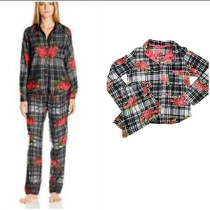 BETSY JOHNSON Floral Flannel Pajama Set